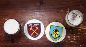 West Ham Лондон против Burnley стоковое изображение