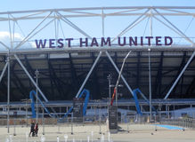 West-Ham United Stadium Lizenzfreies Stockfoto