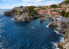West Harbor of Dubrovnik Royalty Free Stock Photo
