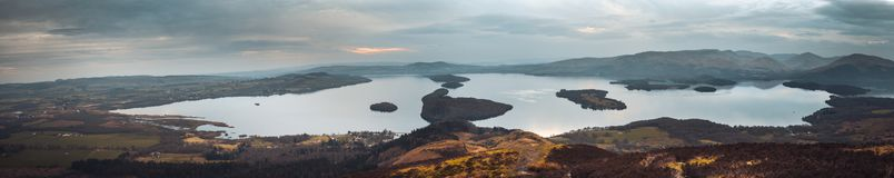 The West highland Way leading to Connic Hill overlooking Loch Lomond stock photo