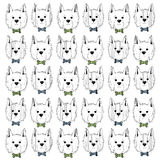 West highland white terrier scetch pattern Royalty Free Stock Photography