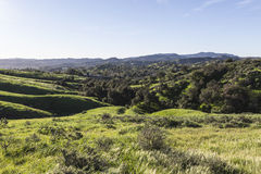 West Hills California. View towards West Hills and Woodland Hills in the San Fernando Valley region of Los Angeles, California Stock Photo
