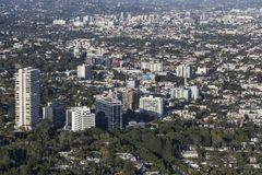 West Hollywood Sunset Strip Aerial Royalty Free Stock Image