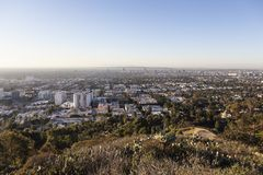 West Hollywood Hilltop View. West Hollywood and Los Angeles early morning hilltop view in Southern California stock image