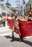 West Hollywood, Los Angeles, California, USA, June 14, 2015, 40th annual Gay Pride Parade for LGBT Community, down Santa Monica Bl Royalty Free Stock Photo