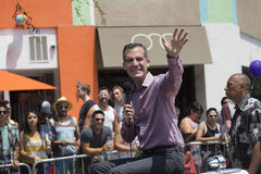 West Hollywood, Los Angeles, California, USA, June 14, 2015, 40th annual Gay Pride Parade for LGBT Community, down Santa Monica Bl Stock Photos