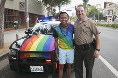 West-Hollywood, Los Angeles, Kalifornien, USA am 14. Juni 2015 40. jährliches homosexuelles Pride Parade für LGBT-Gemeinschaft, u Lizenzfreie Stockbilder