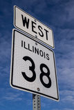West Hwy 38 sign. Royalty Free Stock Photo