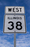 West Hwy 38 sign. Stock Photography