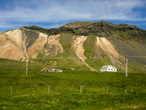 West Iceland peninsula. Popular stop when visiting the peninsula west Iceland where you can see the glacier Snaefellsjokull Royalty Free Stock Image