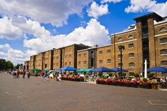 West India Quay. Historic Dockland buildings in West India Quay royalty free stock photos