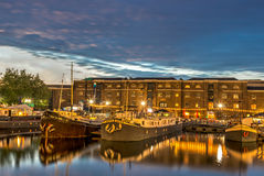 West India Quay Boats Stock Image