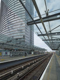 West India Quay DLR station royalty free stock image