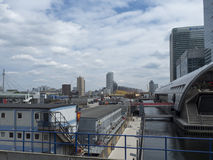 West India Quay DLR station Royalty Free Stock Photo