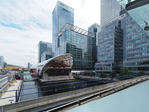 West India Quay DLR station stock photography