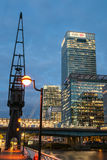 West India Quay at night Royalty Free Stock Image