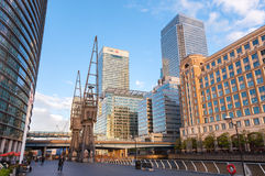West India Quay and North Dock in London Royalty Free Stock Image