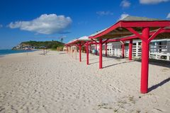 West Indies, Caribbean, Antigua, Darkwood Beach Royalty Free Stock Images