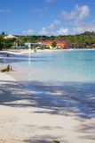 West Indies, Caribbean, Antigua, Long Bay, View of Long Bay & Beach Royalty Free Stock Photos