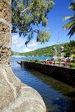 West Indies, Caribbean, Antigua, Nelson's Dockyard, Boat Home and Sail Loft Stock Photography
