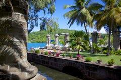 West Indies, Caribbean, Antigua, Nelson's Dockyard, Boat Home and Sail Loft Stock Photos