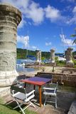 West Indies, Caribbean, Antigua, Nelson's Dockyard, Boat Home and Sail Loft Royalty Free Stock Photography