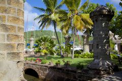 West Indies, Caribbean, Antigua, Nelson's Dockyard, Boat Home and Sail Loft Royalty Free Stock Photos