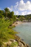 West Indies, Caribbean, Antigua, St Georges, Blue Water Beach Stock Photo