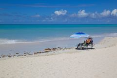 West Indies, Caribbean, Antigua, St Georges, Dickenson Bay, Beach Royalty Free Stock Photo