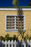 West Indies, Caribbean, Antigua, St Johns, Colourful House Window Royalty Free Stock Photography
