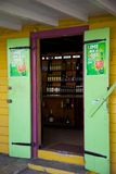 West Indies, Caribbean, Antigua, St Johns, Colourful Shop Doorway Stock Images