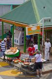 West Indies, Caribbean, Antigua, St Johns, Heritage Quay, Street Vendors Royalty Free Stock Photos