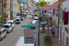 West Indies, Caribbean, Antigua, St Johns, Redcliffe Street Stock Photos