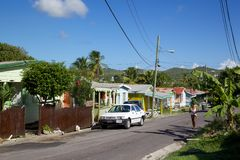 West Indies, Caribbean, Antigua, St Johns, Street in Suburbs of St Johns Royalty Free Stock Photography