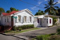West Indies, Caribbean, Antigua, St Johns, Street in Suburbs of St Johns Royalty Free Stock Photos