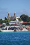 West Indies, Caribbean, Antigua, St Johns, View of St Johns from Harbour Royalty Free Stock Photography