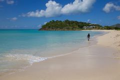 West Indies, Caribbean, Antigua, St Mary, Ffryes Beach Stock Photography