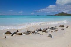West Indies, Caribbean, Antigua, St Mary, Jolly Harbour, Beach Stock Photos