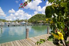 West Indies, Caribbean, Antigua, St Mary, Jolly Harbour, Harbour Royalty Free Stock Image