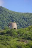 West Indies, Caribbean, Antigua, St Mary, Old Windmill near Ffryes Beach Stock Photo