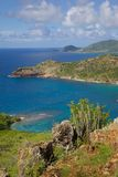 West Indies, Caribbean, Antigua, View of English Harbour from Shirley Heights Royalty Free Stock Images