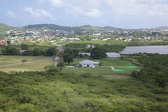 West Indies, Caribbean, Antigua, View of Helicopter Base at Fort James Royalty Free Stock Photo