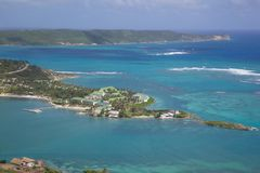 West Indies, Caribbean, Antigua, View of Mamora Bay, St James Club Royalty Free Stock Photo