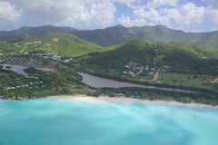 West Indies, Caribbean, Antigua, View over Coco Beach Royalty Free Stock Photography