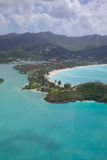 West Indies, Caribbean, Antigua, View over Jolly Harbour Stock Images