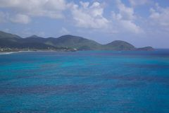 West Indies, Caribbean, Antigua, View over South Coast Royalty Free Stock Photo