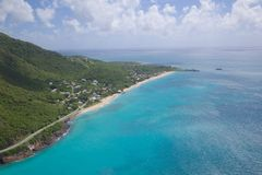 West Indies, Caribbean, Antigua, View over Turners Beach Royalty Free Stock Photography