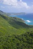West Indies, Caribbean, Antigua, View of Sugar Loaf Hill Stock Photo