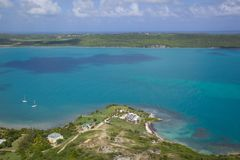 West Indies, Caribbean, Antigua, View of Willoughby Bay Royalty Free Stock Photos