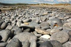 West ireland stony beach. Roughly washed stones on the coast of West Ireland Stock Photos